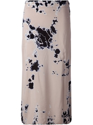 Raquel Allegra Abstract Print Skirt Nude And Neutrals