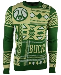 Forever Collectibles Men's Milwaukee Bucks Patches Christmas Sweater Black