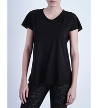 Sweaty Betty Taper Run Mesh T Shirt Black