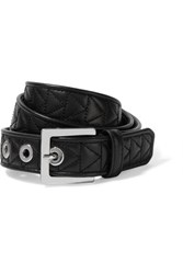 Karl Lagerfeld Quilted Leather Belt Black