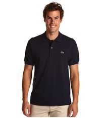 Lacoste L1212 Classic Pique Polo Shirt Navy Blue Men's Short Sleeve Knit