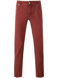 Jacob Cohen Slim Fit Jeans Red