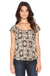 L'agence Larice Flutter Sleeve Top Tan