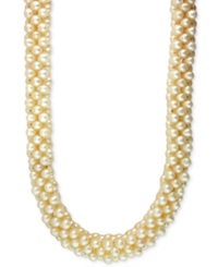 Effy Collection Effy Cultured Freshwater Pearl Cluster Necklace 4 1 2Mm In Sterling Silver
