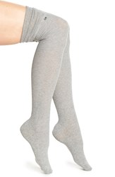 Women's Calvin Klein 'Lottie' Ribbed Over The Knee Socks Grey Heather