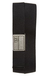 Travis Mathew 'Parlour' Reversible Webbing Belt Dark Grey