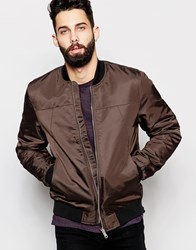 River Island Bomber Jacket With Contrast Collar Mink