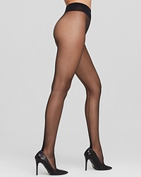 Falke High Heel Tights With Back Seam Black