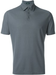 Incotex Classic Polo Shirt Grey