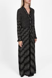 Missoni Lame Ruffle Front Dress Bronze