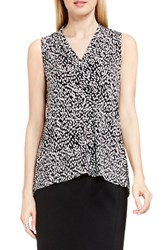 Vince Camuto Petite Women's Sleeveless V Neck Top Rich Black