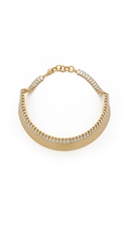 Elizabeth Cole Olivia Necklace Clear Gold