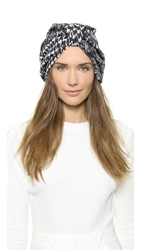 Jennifer Behr Center Wrap Full Turban Black White
