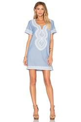 Maison Scotch Midi Summer Caftan Blue