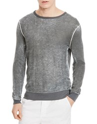 Kenneth Cole Acid Wash Crew Pullover Ash Grey