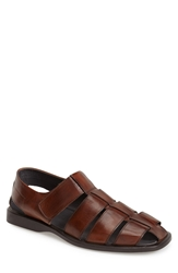 To Boot 'Barbados' Fisherman Sandal Men Trapper Cognac