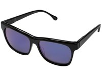 Elizabeth And James Park Shiny Black Purple Mirror Lens Fashion Sunglasses