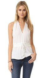 Ella Moss Stretch Stella Halter Blouse White