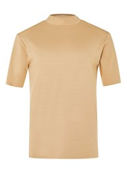 Topman Lux Green Turtle Neck T Shirt Brown