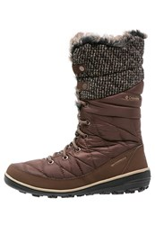 Columbia Heavenly Omniheat Winter Boots Tobacco Dark Mirage Brown