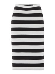 Therapy Stripe Co Ord Skirt Black White