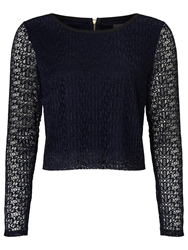 Alice By Temperley Somerset By Alice Temperley Lace Top Navy