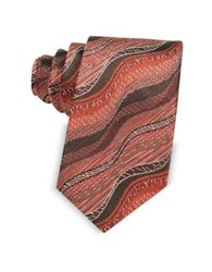 Missoni Waves Woven Twill Silk Men's Narrow Tie Red