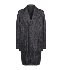 Public School Nyc Oversized Herringbone Coat Male Dark Grey