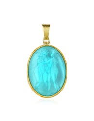 Tagliamonte Three Graces 18K Gold Mother Of Pearl Cameo Pendant Turquoise