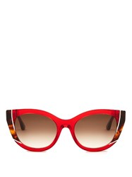 Thierry Lasry Nevermindy Cat Eye Sunglasses Red Multi