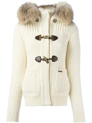Bark Hooded Cardigan Nude And Neutrals