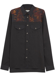 Paul Smith Black Tie Dye Panelled Shirt