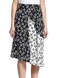 Tanya Taylor Sammy Asymmetrical Skirt Spur Black