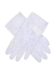 Dents Ladies Stretch Lace Glove White