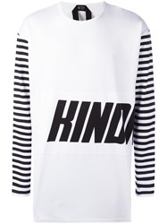N 21 No21 Graphic Print Long Sleeve T Shirt White