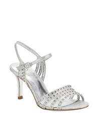 Adrianna Papell Vonia Open Toe Sandals Silver