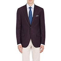 Isaia Men's Sanita Plaid Wool Two Button Sportcoat Navy