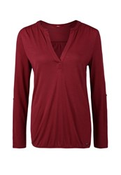 S.Oliver Long Sleeved Top Winter Berry Dark Red
