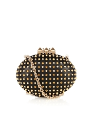 Christian Louboutin Mina Stud And Crystal Leather Clutch