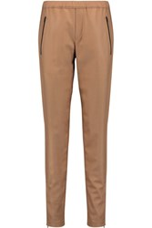 Rag And Bone Eugenia Stretch Wool Tapered Pants Camel