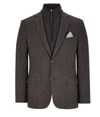 Austin Reed Charcoal Herringbone 2 In 1 Blazer