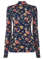 Warehouse Floral Polo Top Multi