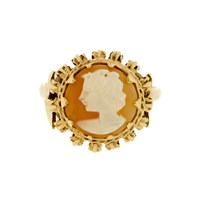 Lila's Vintage 1970S Shell Cameo Ring