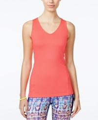 Jessica Simpson The Warm Up Juniors' Cutout Compression Tank Top Only At Macy's Hibiscus