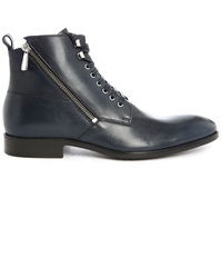 Paul And Joe Solda Navy Laced Boots With Side Zips