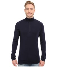 Smartwool Nts Mid 250 Zip T Top Deep Navy Men's Long Sleeve Pullover