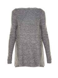 Stella Mccartney Wide Neck Sparkle Knit Sweater Grey