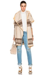 By Malene Birger Moniama Jacket In Brown Checkered And Plaid Neutrals