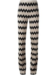Missoni Chevron Print Trousers Black
