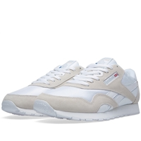 Reebok Classic Leather Nylon White And Light Grey